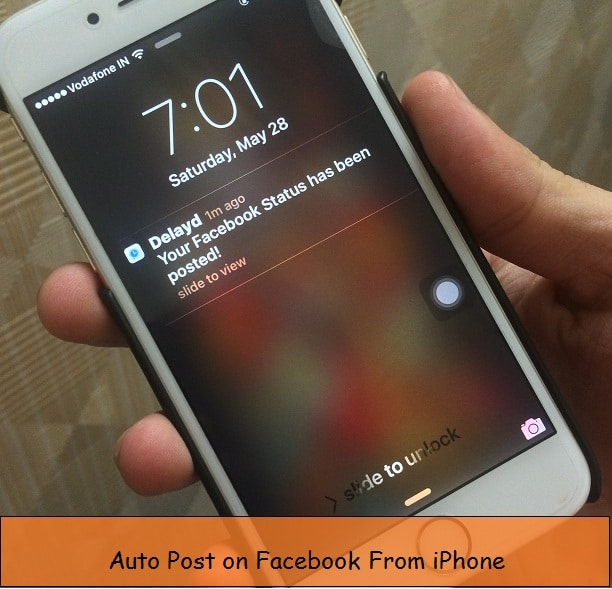 auto Schedule facebook post on iPhone, iPad, iPod: iOS 9