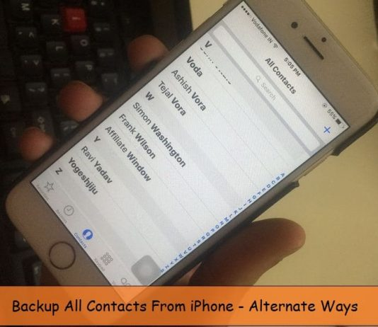Contacts backup from iPhone 6, 6 Plus: iOS 9