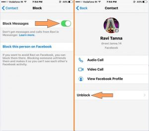 Block Facebook messenger call and Text on iPhone/ iPad