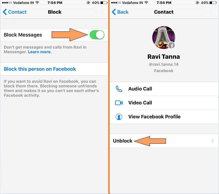 Unlock Messenger Chat on iPhone App