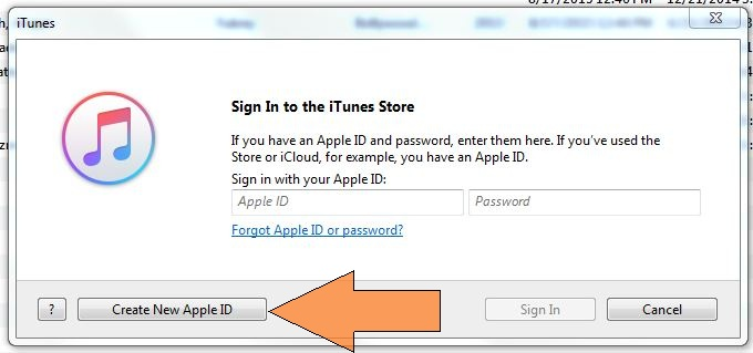 Start New apple ID sign up