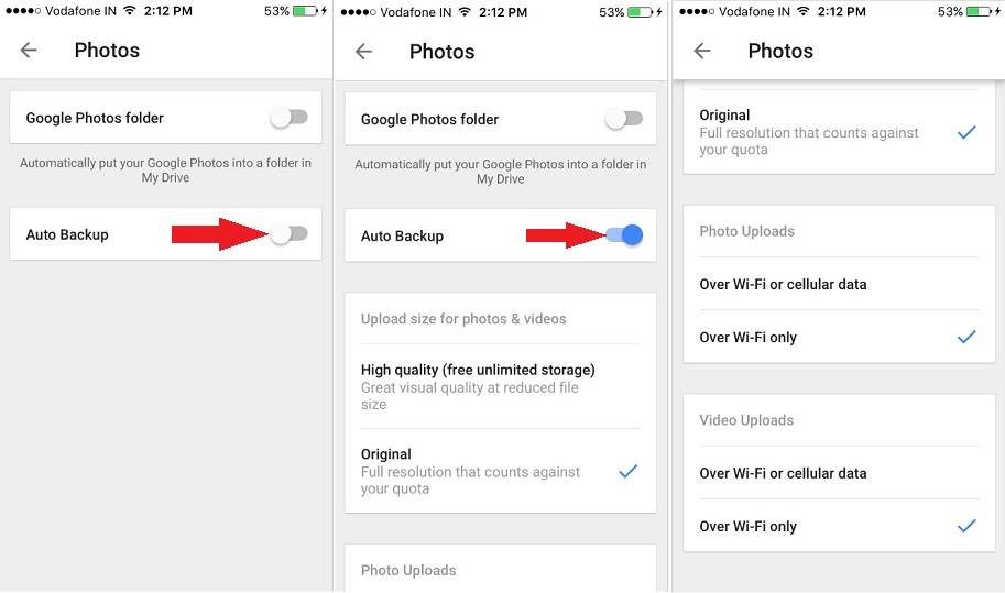 Auto backup for Google Drive to Upload iPhone