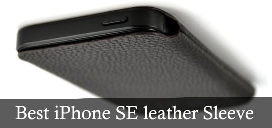 Best iPhone SE leather Sleeve by Dockem USA
