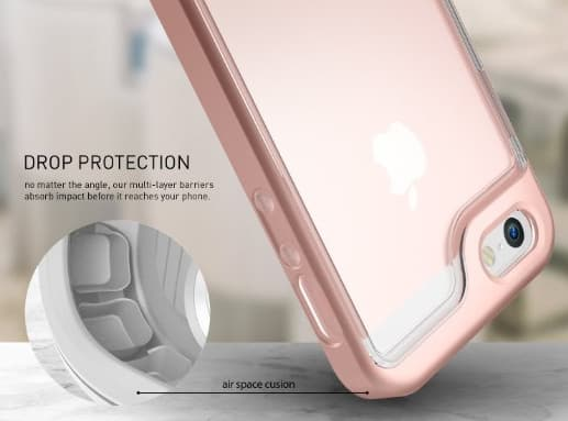Dual layer iPhone SE Clear Case