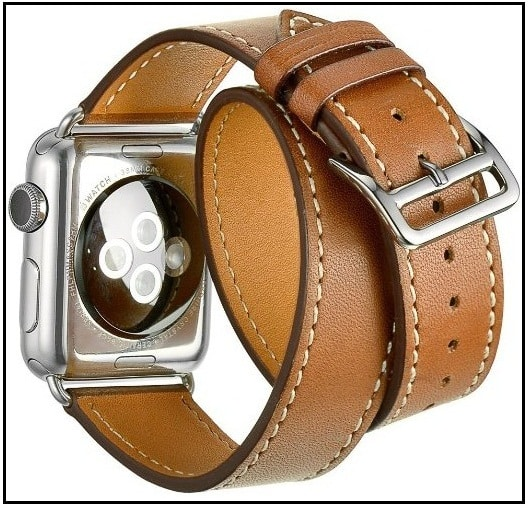 Non-Italian leather band for Apple Watch