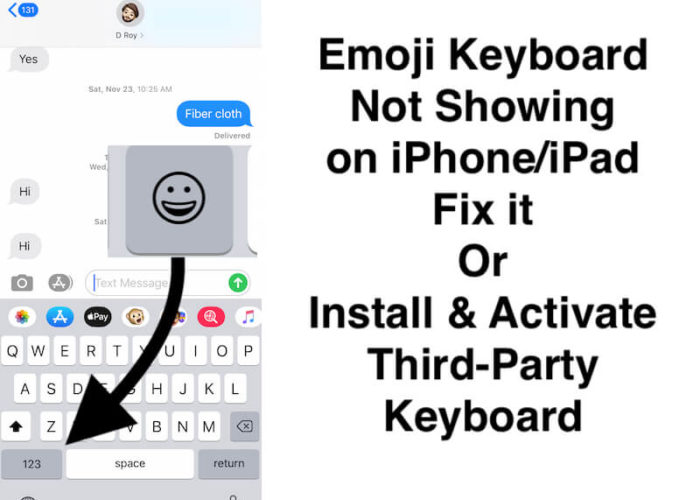Enable Emoji Keyboard or insall New Keboard from App Store
