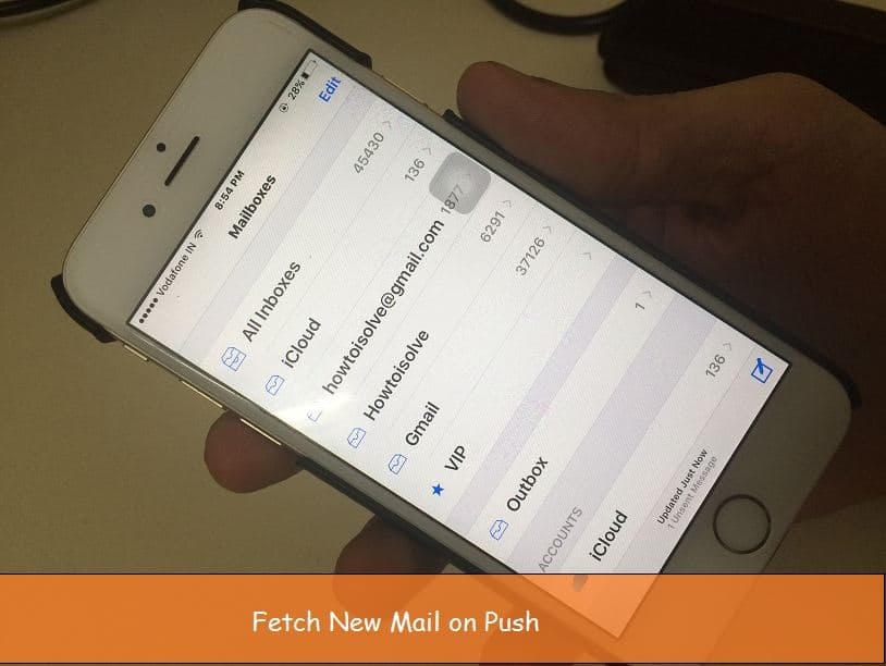 Email Push not working on iPhone, iPad iOS 9