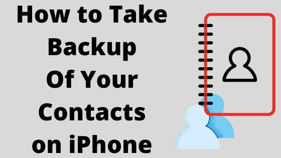 How to Take Backup Of Your Contacts on iPhone-2