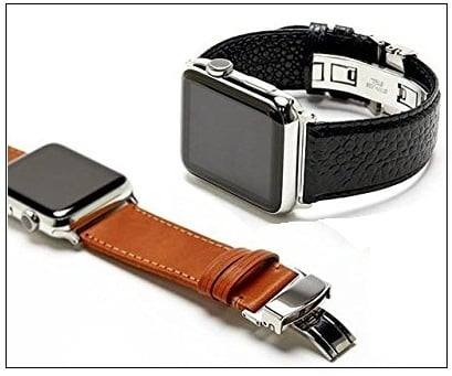 Italian Caviar Premium Leather band for Apple Watch