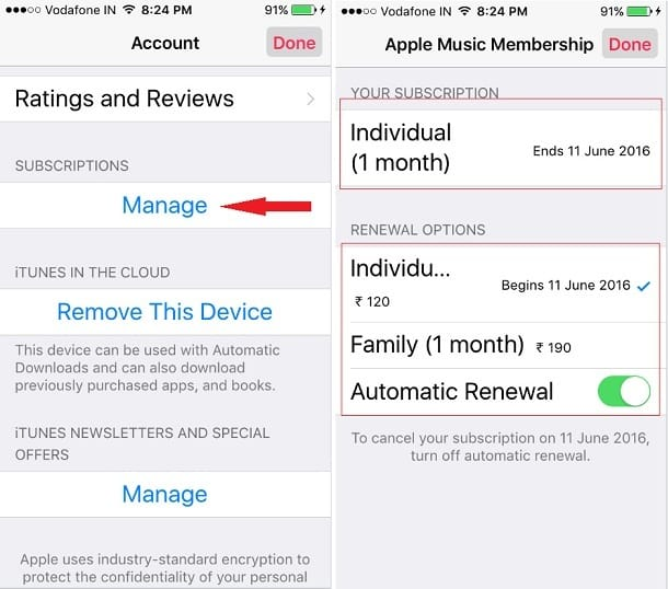 Alternate Ways to Manage Apple Music Membership on iPhone SE iPhone 6S Plus
