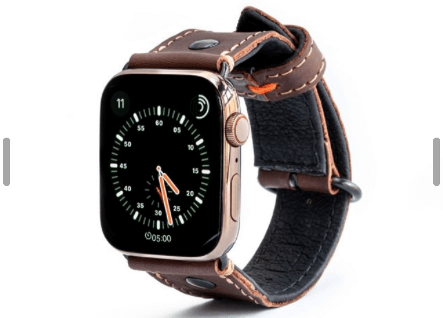 Pilots inspired Apple Watch Band from italian leather