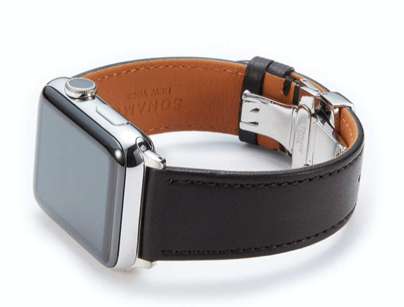SONAMU New York Premium Leather Strap for Apple Watch