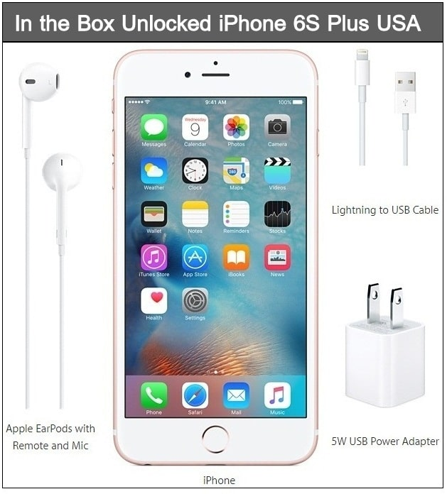 iPhone 6S Plus accessories in the box