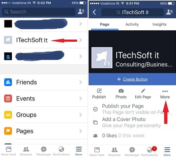 How to delete facebook page on iphone ipad air ipad mini delete facebook page on ios 9 ccuart Image collections