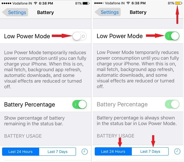 Save Battery life on iPod Touch 6th Generation