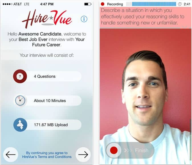 Start Interview on iPhone app