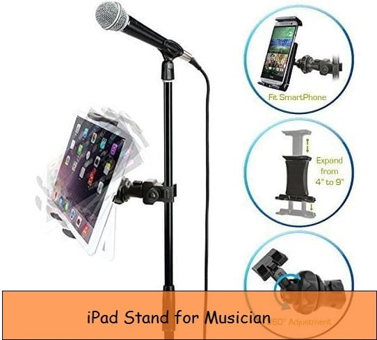 Best iPad stand for musicians, Artist: Microphone friendly