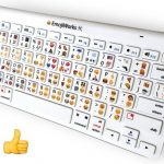 Printed Emoji keyboard for iPhone/ iPad, Mac: Physical Emoji keys