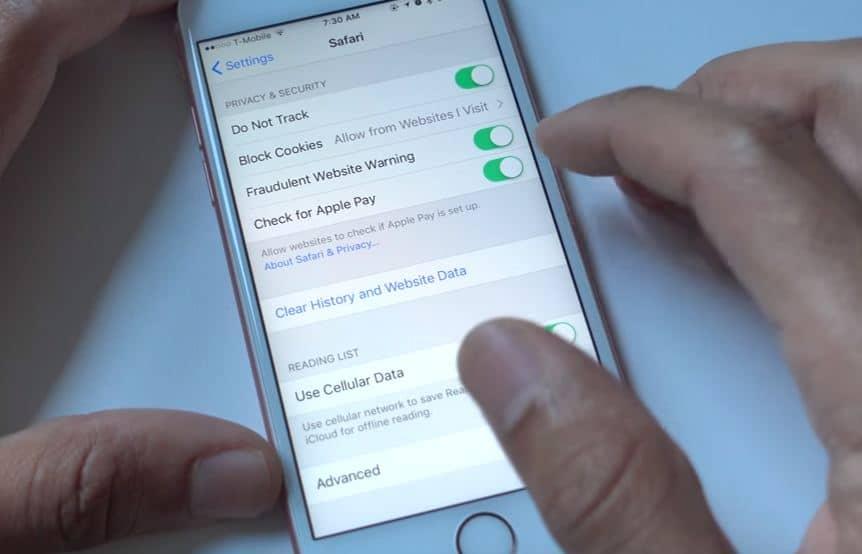 Manage Apple pay option in iOS 10 Safari