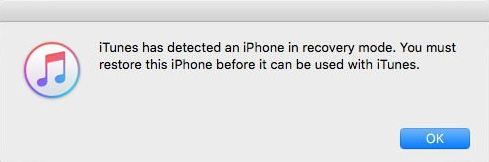 iPhone recovery mode for Restore iOS 9.3.2 from iOS 10 Beta