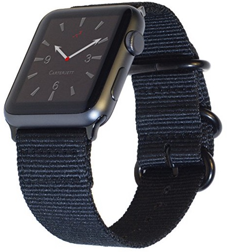 2 Carterjett Apple Watch Woven NYLON band