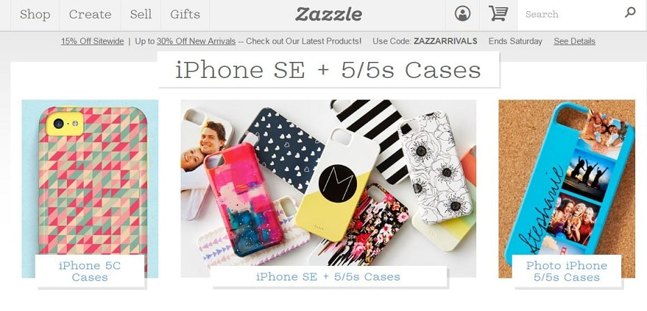 Zazzle iPhone SE custom case builder