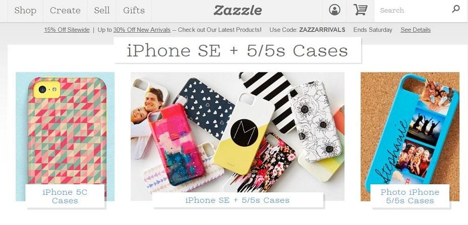 Zazzle iPhone SE custom case builder
