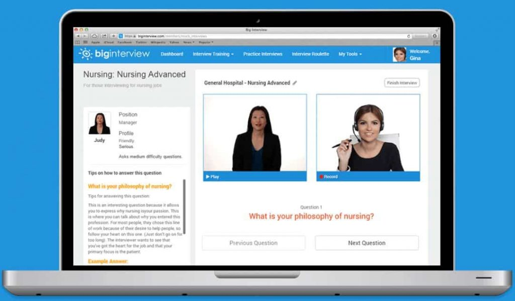 Web interview for online test
