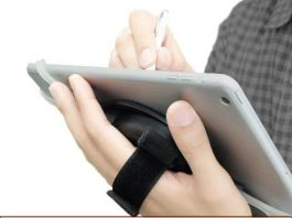Dual Functional iPad case with strap and stand