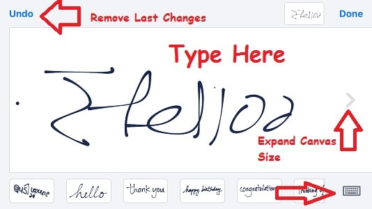 3 Type handwritter text in iMessage canvas