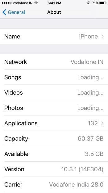 4 Check storage space