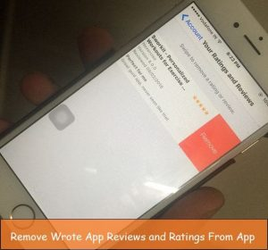 How to remove app reviews or ratings app in App store given by you