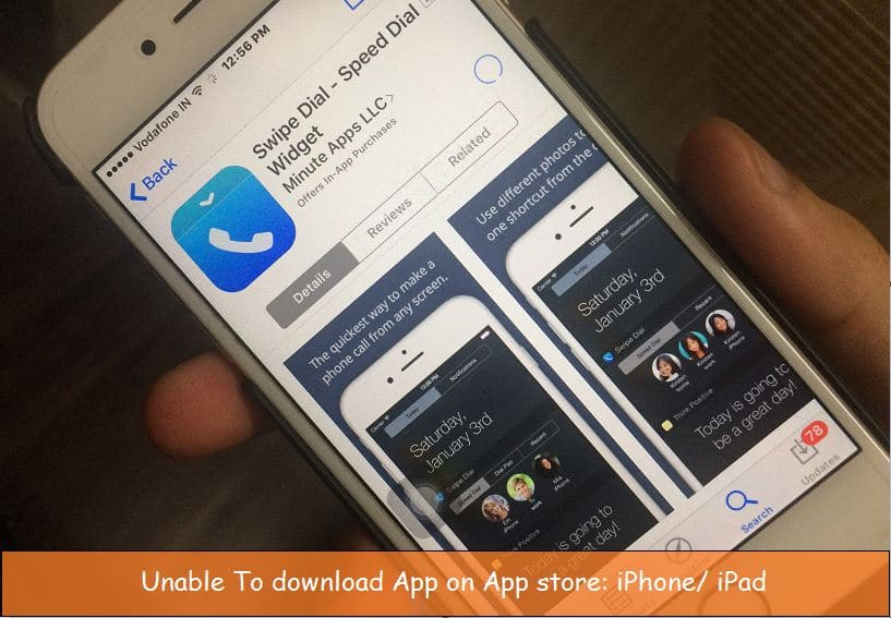 Unable to download app from App store iPhone or iPad with iOS 9