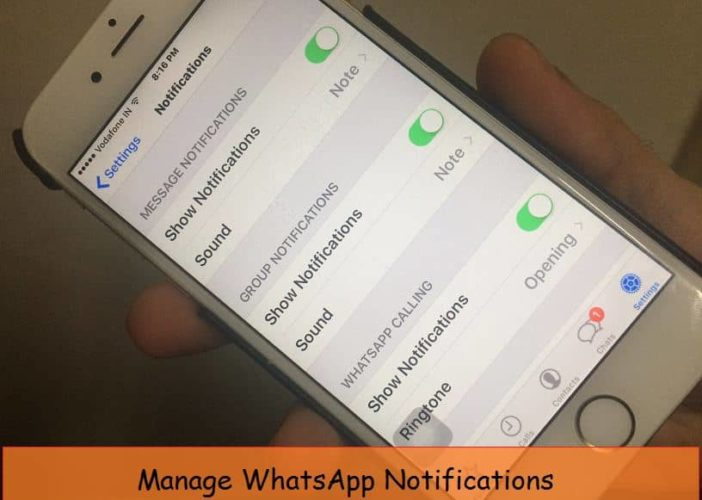 Stop or Turn off WhatsApp Message notification