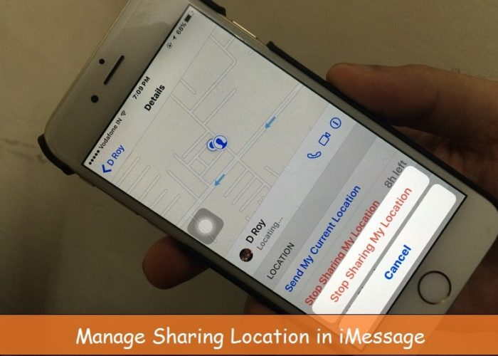 Stop location share on iMessage iPhone, iPad with iOS 9