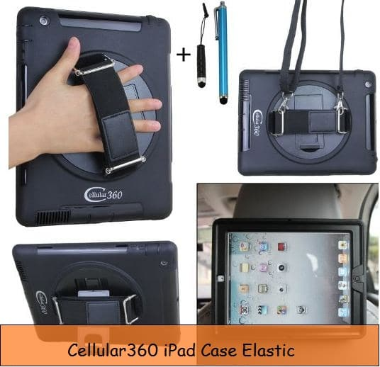 Elastic iPad back carry case