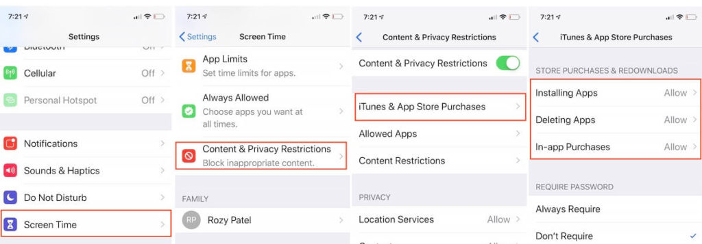 App Deleting and installing restrictions on iPhone