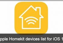 Apple Homekit devices list for iOS 10: iPhone, iPad, iPod