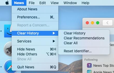 Manage News App History on Mac