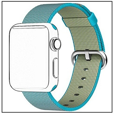 Tentan Woven Nylon Strap Replacement Nylon Band for Apple Watch 3 and Apple Watch 2