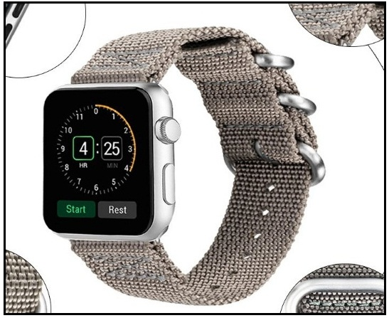 VIGOSS Apple Watch 3 Woven Nylon Band Waterproof