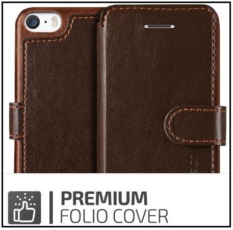 iPhone SE leather case VRS design