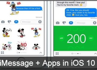 features in iOS 10 Message App