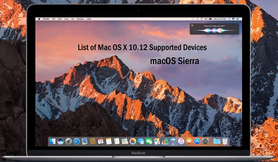macOS Sierra Features Preview Mac OS X 10.12