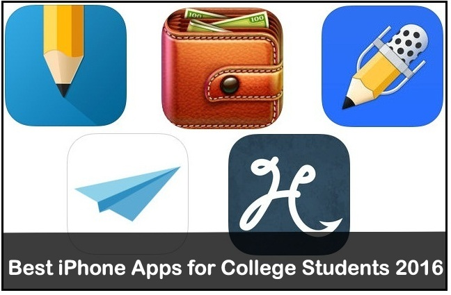 Best iPhone Apps for College Students 2016