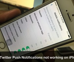 Twitter Push notifications not working on iOS 9