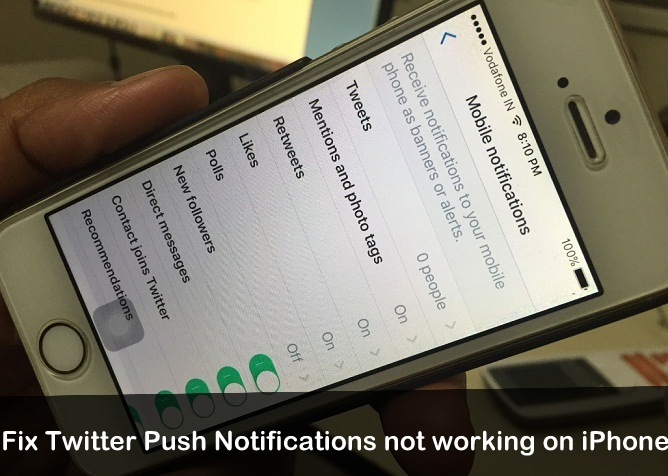 Twitter Push notifications not working on iPhone iOS 9 iOS 10
