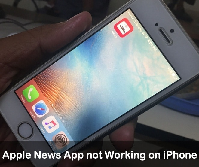 how to fix Apple News App not Working on iPhone