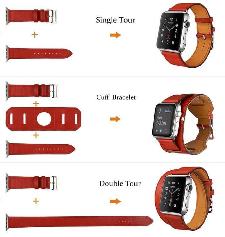 apple watch 38mm: Single, Double Leather