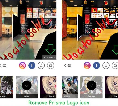 Remove Prisma Logo on iPhone, iPad with iOS 10